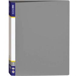 Папка 2 кольца Economix А4 ширина 3,6 см пластик цвет серый (E30701-10)