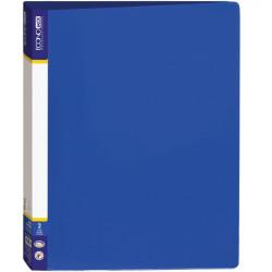 Папка 2 кольца Economix А4 ширина 3,6 см пластик цвет синяя (E30701-02)