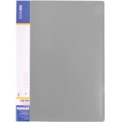 Папка с прижимом Economix Light А4 Clip B пластик серая (E31208-10)