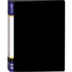 Папка 2 кольца Economix А4 ширина 3,6 см пластик цвет черный (E30701-01)