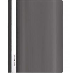 Скоросшиватель с прозрачным верхом Economix Light А4 б/перфор. пластик черный (E38503-01)