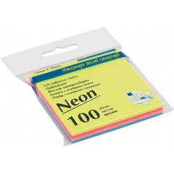 Бумага для заметок с клейким слоем BuroMax 76х76 мм 4х25 листов неон ассорти (BM.2312-97)