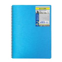 Блокнот BuroMax METALLIC В5 80 листов пластиковая обложка на пружине (BM.2419-902)