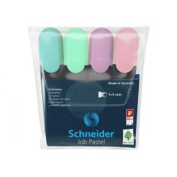 Набор маркеров текстовых JOB Schneider Pastel 4 цвета 1-4,5 мм (S115098)