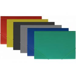 Папка на резинке Economix фактура Апельсин А4 пластик цвет ассорти (E31601-50)