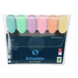 Набор маркеров текстовых JOB Schneider 6 пастельных цветов 1-4,5 мм (S115097)