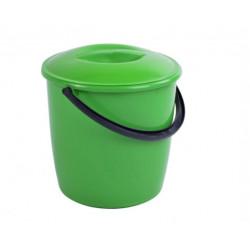 Ведро пластиковое 10 л с крышкой (02694)