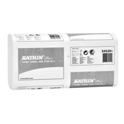 Полотенца бумажные Katrin  Plus One Stop M2  W-сложения 2 х-слойные белые 25х23,5 см /за уп. 145 листов/ (345201)