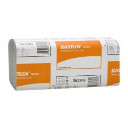 Полотенца бумажные Katrin Basic ZZ (V)-сложения 2-х слойные /за уп. 150 листов/ (76957)