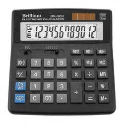 Калькулятор настольный 12 разрядный 156х157х34 мм Brilliant (BS-320)