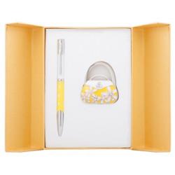 Набор подарочный Langres Sense ручка шариковая + крючок д/ сумки желтый (LS.122031-08)
