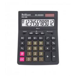 Калькулятор настольный 12 разрядный Brilliant 155х205х35 мм (BS-8888BK)