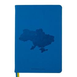 Блокнот деловой BuroMax UKRAINE А5 96 листов клетка иск. кожа синий (BM.295120-02)