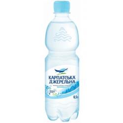 Вода Карпатська джерельна минеральная негазированная ПЭТ 0,5 л