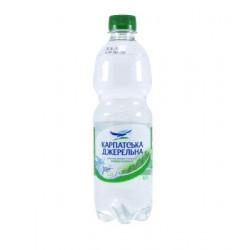 Вода Карпатська джерельна слабогазированная ПЭТ 0,5 л