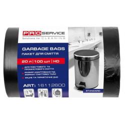 Пакеты для мусора ProService 20 литров 45х50 см 100 штук черные (16112600)