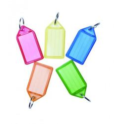 Брелок для ключей Economix 55х28 мм пластиковый цветной (E41680)