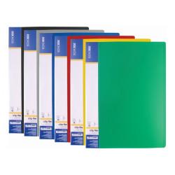 Папка с длинным прижимом Economix А4 Clip BL пластиковая цвет ассорти (Е31212)