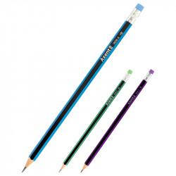 Карандаш чернографитный Axent HB с ластиком (9006/12-a)