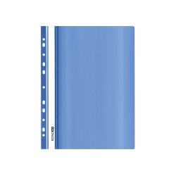Папка-скоросшиватель Economix А5 пластиковый с перфорацией проз. синий (Е31506-02)