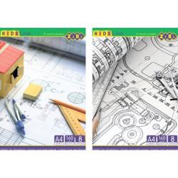 Папка для черчения А4 8 листов 160 г/м2 KIDS Line (ZB.1400)