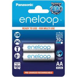 Аккумулятор Panasonic eneloop AA 1900 мАч Ni-MH (BK-3MCCE/2BE) /в блистере 2 штуки/