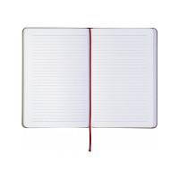 Блокнот деловой Optima COMBI-10 А5 твердый переплет на резинке линия (O20125-10)