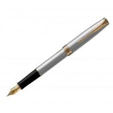 Перьевая ручка Parker SONNET 17 Stainless Steel GT FP F (84 111)
