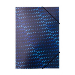 Папка на резинке A4 BUROMAX FLASH синий (BM.3958-02)