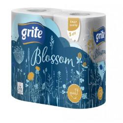 Бумага туалетная Grite Blossom 4 рулона 3-х слойная белая (3TBLOS1304)