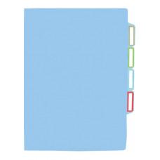 Папка-уголок Economix А4 3 отделения пластиковый цвет ассорти Арт. E31154