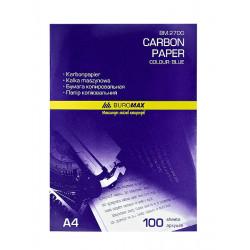 Бумага копировальная BuroMax А4 100 листов синяя Арт. BM.2700