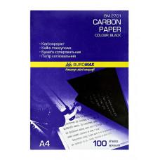 Бумага копировальная BuroMax А4 100 листов черная Арт. BM.2701