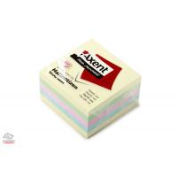 Куб бумаги для заметок с липким слоем Axent 75x75 мм 450 листов пастельный микс Арт. 2324-00-A