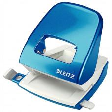 Дырокол Leitz  WOW 30 листов металлический синий металлик (5008-10-62)