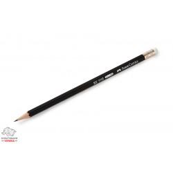 Карандаш чернографитный Faber-Castell 1112 HB с ластиком Арт. 3829