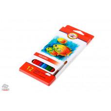 Карандаши акварельные Kоh-I-Noor Mondeluz 12 цветов Арт. 3716