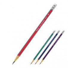 Карандаш чернографитный Axent HB треугольный с ластиком Арт. 9003/12-А 14513