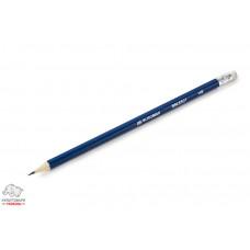 Карандаш чернографитный BuroMax HB с ластиком Арт. ВМ.8501