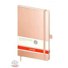 Записная книга Brunnen Компаньон А5 металлического цвета кремовый блок в точку Арт. 10-555 48