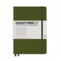 Записная книжка Leuchtturm1917 А5 твердая обложка хаки на резинке Арт. 348103