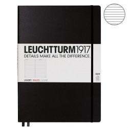 Записная книжка Leuchtturm1917 Master Slim А4+ твердая обложка на резинке черная Арт. 334917