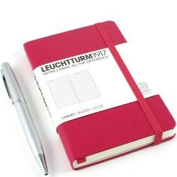 Записная книжка Leuchtturm1917 А6 твердая обложка на резинке ягодная Арт. 344805