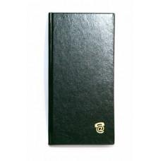 Алфавитная книга Полиграфист 80 листов 100х198 мм обложка баладек черная Арт. 210 05Ч