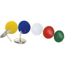 Кнопка канцелярская BuroMax цветная 100 штук Арт. BM.5104