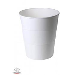 Корзина для бумаг Leitz WOW d 29 см пластик белый металлик Арт. 52781001