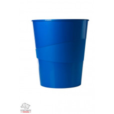 Корзина для бумаг Leitz WOW d 29 см пластик синий металлик Арт. 52781036