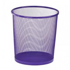Корзина для бумаг ZIBI d 26 см металлическая сетка фиолетовая круглая Арт. ZB.3126-07