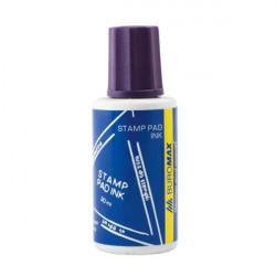 Краска штемпельная BuroMax 30 мл водная основа фиолетовая (ВМ.1901-05)