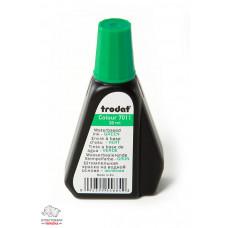 Краска штемпельная Trodat 28 мл водная основа зеленая Арт. 7011